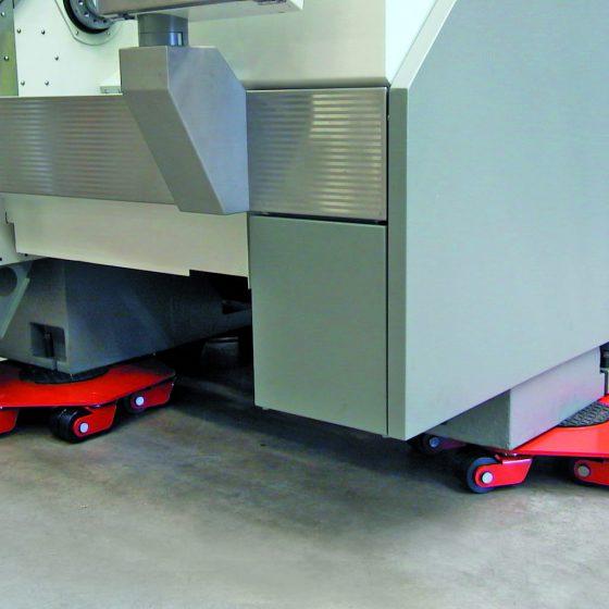 JUNG rollcassettes onder CNC-machine