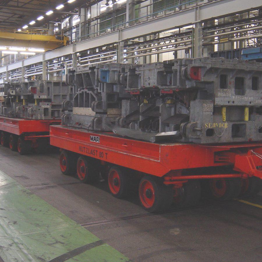 MAFI 80 tons aanhangwagens in marijsindustrie