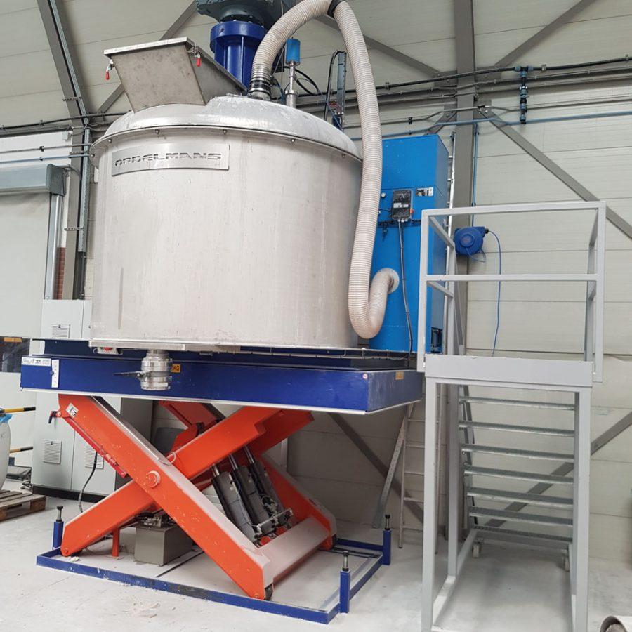 Schaarlift capaciteit 10.000 kg