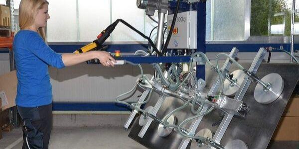 Vacuumheffer voor platen - kantelmechanisme 90°