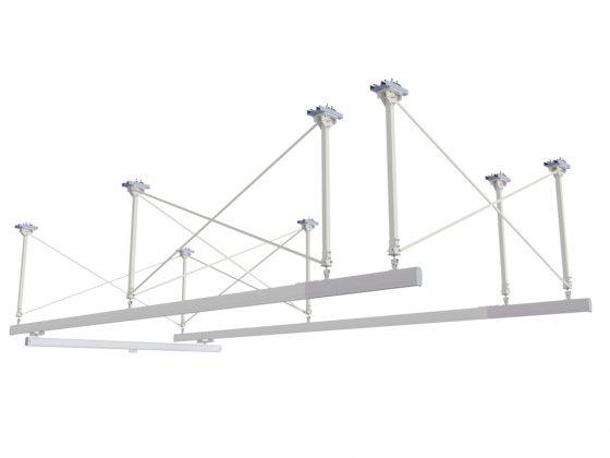 Plafondgemonteerde draagconstructie kraanbaansysteem