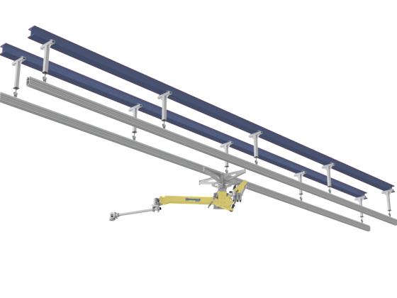 Plafondgemonteerde draagconstructie
